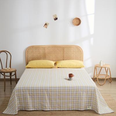 2021新款无印单品系列--单床单 160*245cm 安格道-黄
