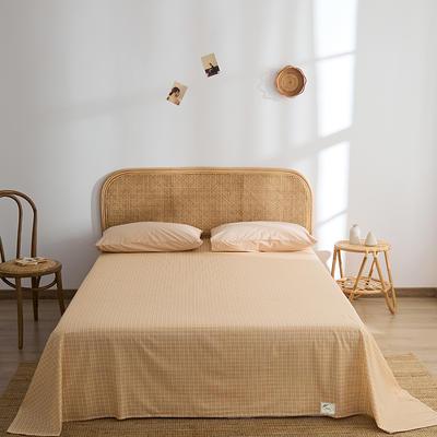 2021新款无印单品系列--单床单 160*245cm 布蓝卡-橘