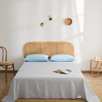 2021新款无印单品系列--单床单 160*245cm 布蓝卡-蓝