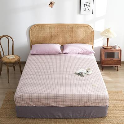 2021新款无印单品系列--单床笠 120*200cm 阿森呐-粉