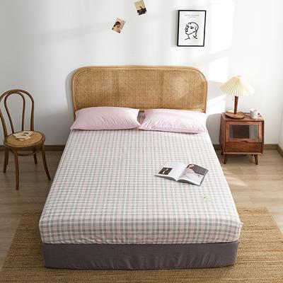 2021新款无印单品系列--单床笠 120*200cm 安格道-粉