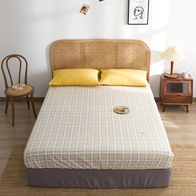 2021新款无印单品系列--单床笠 120*200cm 安格道-黄