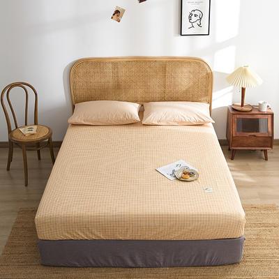 2021新款无印单品系列--单床笠 120*200cm 布蓝卡-橘
