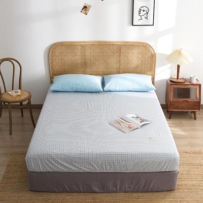 2021新款无印单品系列--单床笠 120*200cm 布蓝卡-蓝