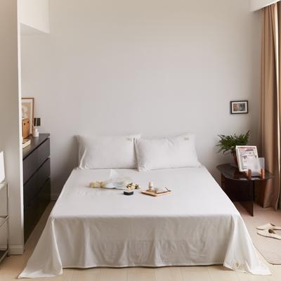 2021新款色织水洗32s全棉床单—青岚系列 160cmx245cm 纯白黑白小格