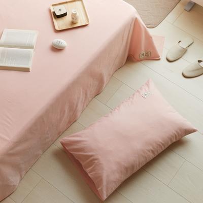 2021新款色织水洗32s全棉枕套—青岚系列 48*74一对 素粉