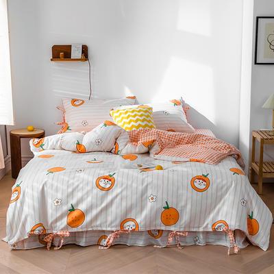2020全棉草莓印花小清新四件套 1.5m(5英尺)床 小可爱