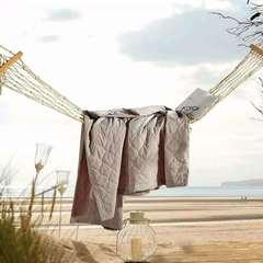 色织夏被 150*200 水洗棉(米色)