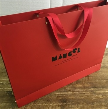 包裝系列 紅色紙質手拎袋