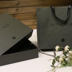 包装系列(包含手拎带) 黑色真丝礼盒