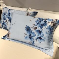 60天丝单枕套(一对) 梦影溪香