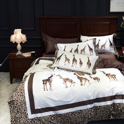 特价100支数码锦棉四件套 标准 长颈鹿家族