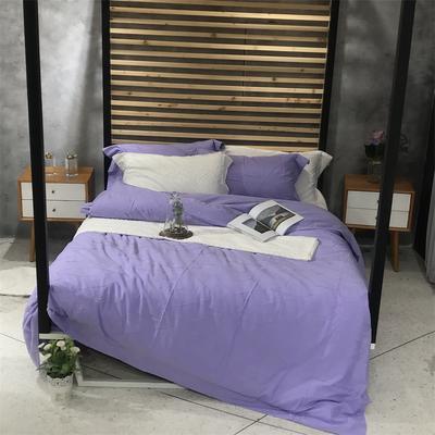 全棉剪花提花 标准 微笑向暖(紫色)