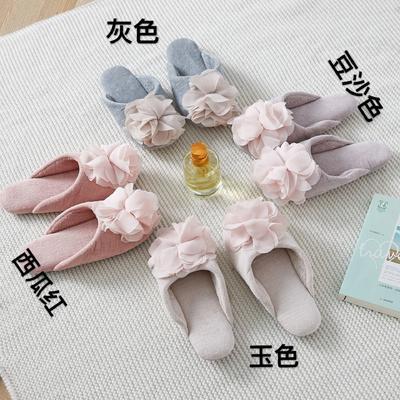 外贸尾货静音地板拖鞋全棉双面毛巾 其它 多色