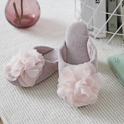 外贸尾货静音地板拖鞋全棉双面毛巾 其它 豆沙