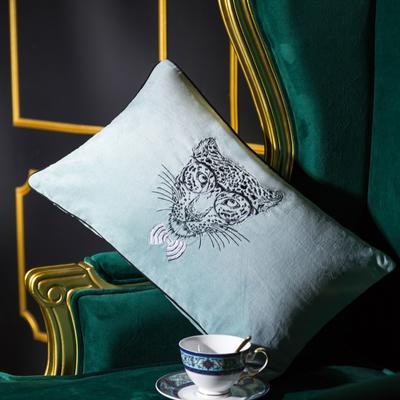 小抱枕 30*50(一只含芯) 丛林绅士(绿)