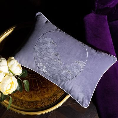 小抱枕 30*50(一只含芯) 素锦(紫)