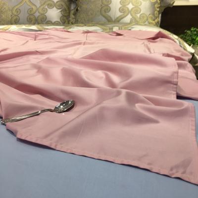 二等品60贡缎长绒棉单床单  直角卷边 220*240cm 蔷薇烟粉