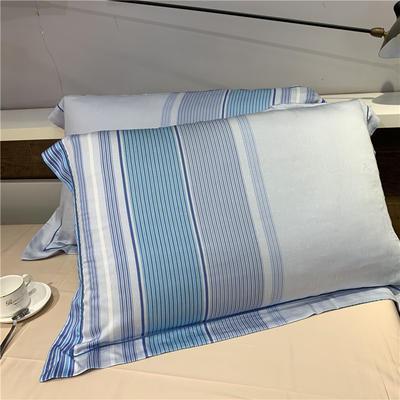 60天丝单枕套(一对) 迪瑞尔(蓝)