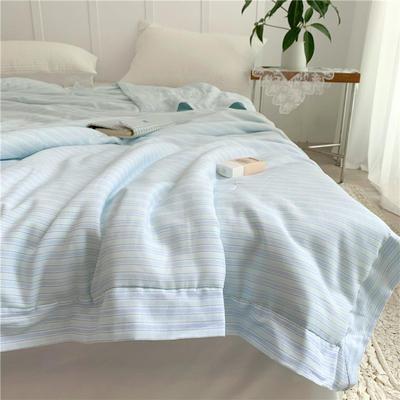 特价有氧纱夏被 220x240cm 桃瑞丝(蓝)