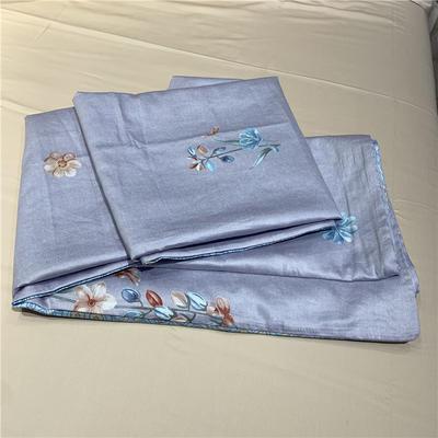 60贡缎长绒棉单被套 200X230cm 紫藤花