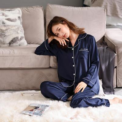 無印良品--2020新款睡衣 纯色 B811001-宝蓝