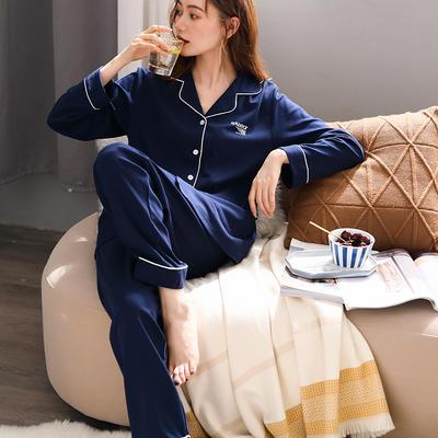 無印良品--2020新款睡衣 纯色 C811003-宝蓝