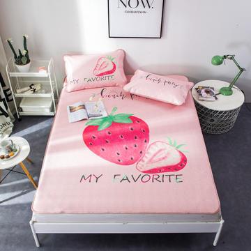 2018新款大版凉席 1.2m 小草莓