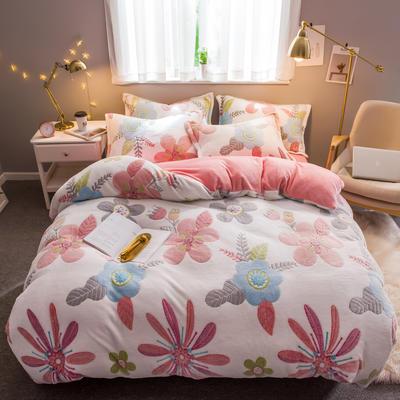 2019新款暖冬雪花绒四件套 1.2m床(三件套) 床单款 梦境花园