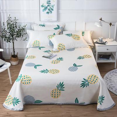 2019新款 床单床笠款冰丝凉席三件套 1.8*2.0m 床笠款三件套 菠萝蜜