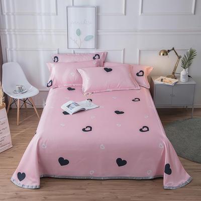 2019新款 床单床笠款冰丝凉席三件套 1.6*2.3m 床单款二件套 恋爱蜜语