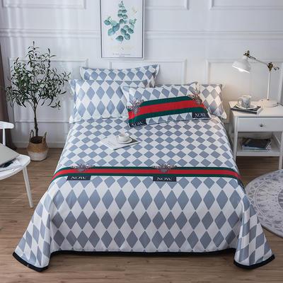 2019新款 床单床笠款冰丝凉席三件套 1.8*2.0m 床笠款三件套 品味生活
