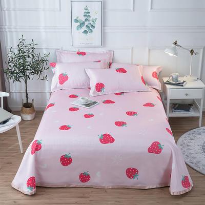 2019新款 床单床笠款冰丝凉席三件套 1.8*2.0m 床笠款三件套 甜心草莓
