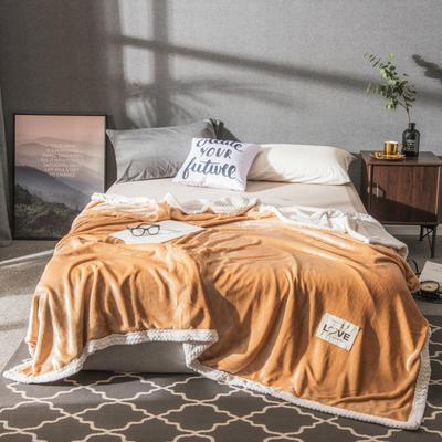 2019新款加厚贝贝绒双面毛毯 1.5*2m 米黄