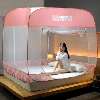 2020新款免安装蚊帐-几何钢丝款 1.2m 几何粉红