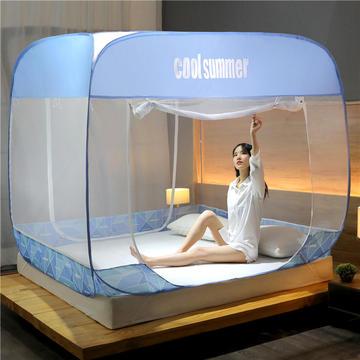 2020新款免安装蚊帐-几何钢丝款