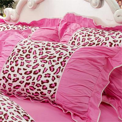 伊宁家纺  韩版枕套 48cmX74cm 公主派对-粉