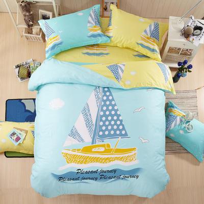 全棉卡通大阪花套件学生儿童三件套 四件套纯棉 小号三件套 航海梦想