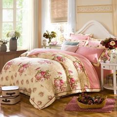 海藻绒AB版保暖四件套 1.5m(5英尺)床 俏丽花影