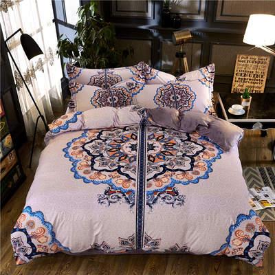 高清数码印花磨绒(水晶绒)保暖四件套 1.5m(5英尺)床 莫内花园