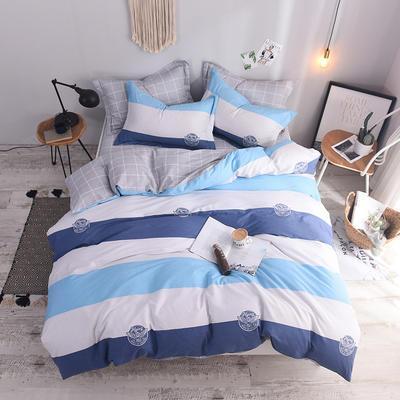 全棉印花四件套 床单纯棉床上用品1.5m1.8m单双人简约活性套件 1.5m(5英尺)床 放飞梦想