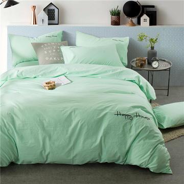 纯棉四件套水洗棉四件套床单床笠款全色套件