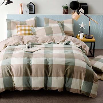 全棉四件套纯棉四件套水洗棉四件套床单床笠款