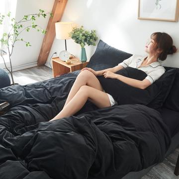2018天鹅绒单品被套床单枕套床笠四件套任意组合