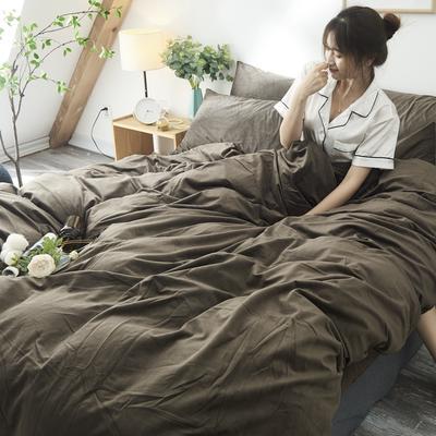 保暖天鹅绒单人双人被套水晶绒单被套法莱绒被套1.5m1.8m2.0m 150x200cm 咖啡色