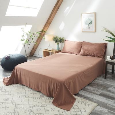 保暖被套天鹅绒单床单水晶绒法莱绒床单单人双人床单1.5m1.8m2.0m 160cmx230cm 焦糖