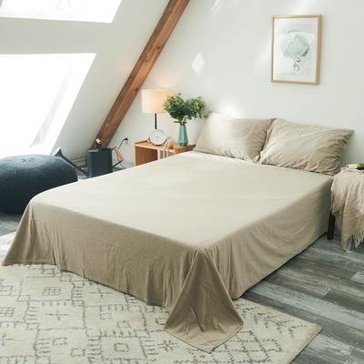 保暖被套天鹅绒单床单水晶绒法莱绒床单单人双人床单1.5m1.8m2.0m 160cmx230cm 米色