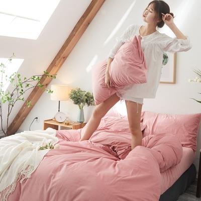 保暖被套天鹅绒单枕套水晶绒法莱绒枕套单人双人枕头套 48cmX74cm一个 亮粉色