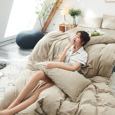 保暖被套天鹅绒单枕套水晶绒法莱绒枕套单人双人枕头套 48cmX74cm一个 米色