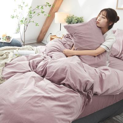 保暖被套天鹅绒单枕套水晶绒法莱绒枕套单人双人枕头套 48cmX74cm一个 藕咖色